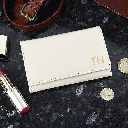 Personalised Gold Initials Cream Purse (PMC)