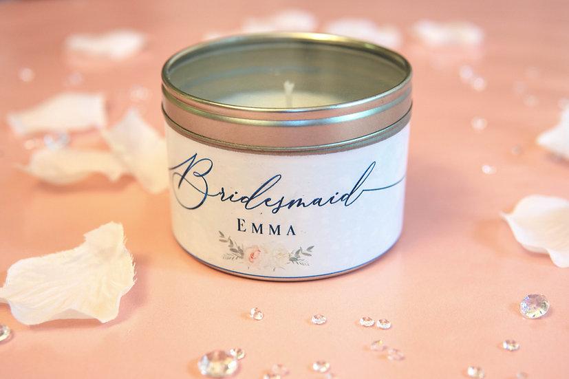 Bridesmaid Candle