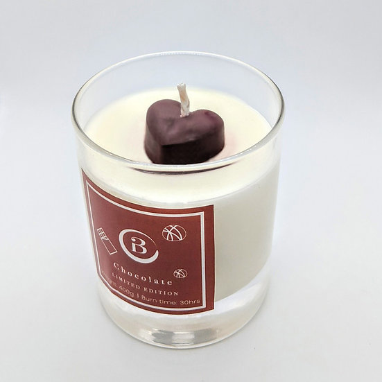 Chocolate Glass Candle