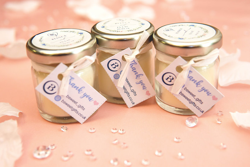 Mini Candle Wedding Favours