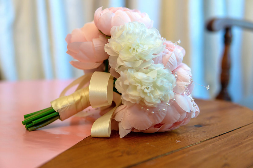 Pink & White Brides Bouquet