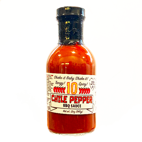 10 Chile Pepper BBQ Sauce 12 oz