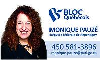 Carte Monique Pauze - couleur et bande b