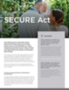 SECURE Act Guide (Unbranded) - Insurance