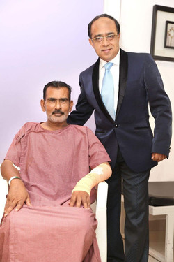 Dr Bhatnagar with cardio operated payient