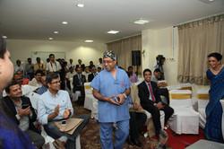 Dr Bhatnagar at conference