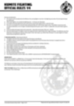 unity 7 official rules KUMITE FIGHTING v
