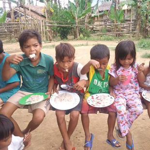 A weekly feeding for children living in poverty facilitated by our partner church in the community.