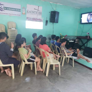 Church leaders attend an online Bible training via Zoom.