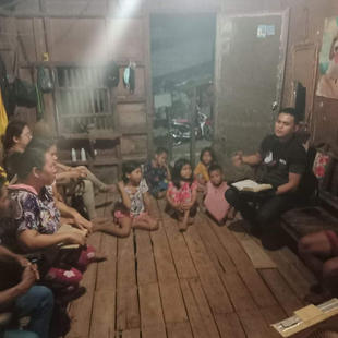 House to house. Church leaders from Butuan City visit members and neighbors.