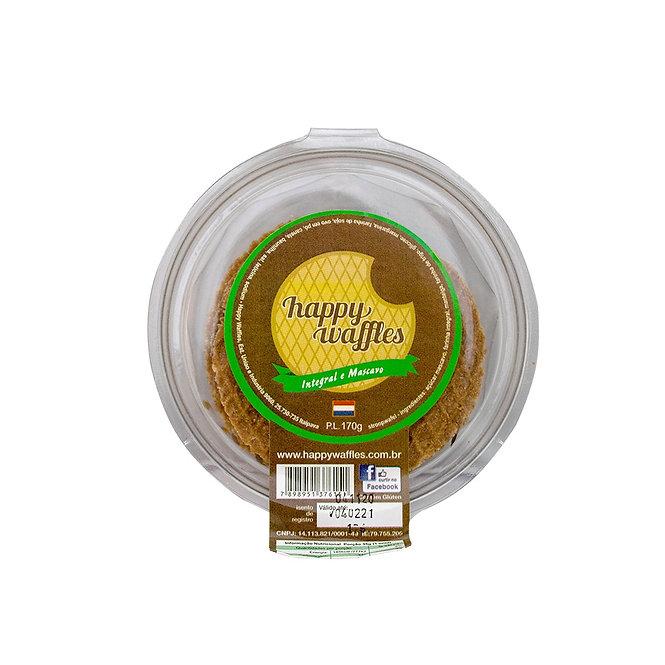 Stroopwafel Integral, Pote, 170 gramas