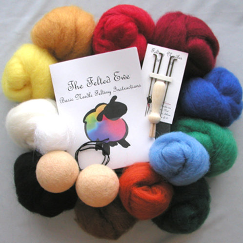 Holiday Edition 10 Wool Color Needle Felting Kit