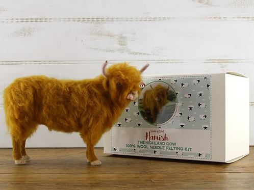 Hamish the Highland Cow Needle Felting Kit