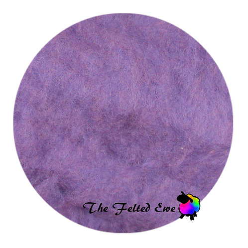 CB14 Lilac & Lavender Carded Wool Batt