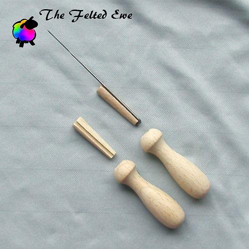 Wooden Single Felting Needle Holder