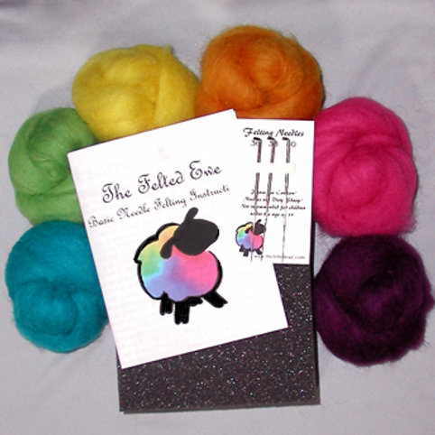 Custom 6 Wool Color Needle Felting Kit