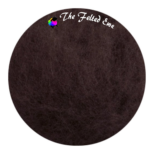 FB40 Chocolate Drops Maori Wool Batt