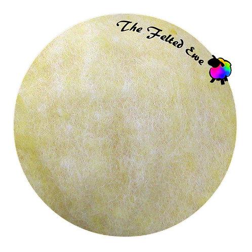 HFB2 Lemon Heathered Wool Fluffy Batt
