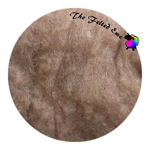 HFB22 Caramel Heathered Wool Fluffy Batt