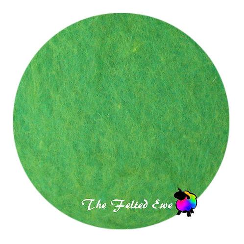 CB25 Spring Greens Carded Wool Batt