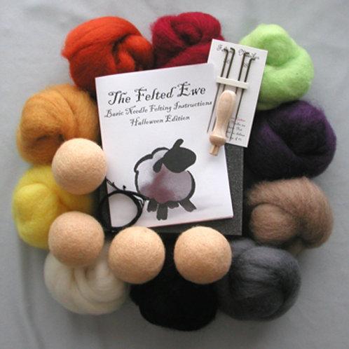 Halloween Edition 10 Wool Color Needle Felting Kit