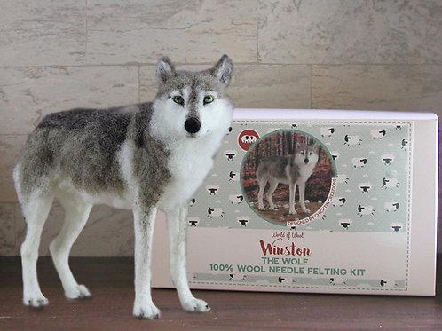 Winston the Wolf Needle Felting Kit