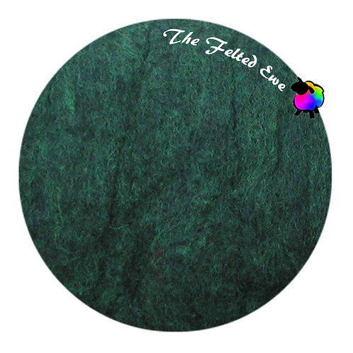 HFB45 Malachite Heathered Wool Fluffy Batt