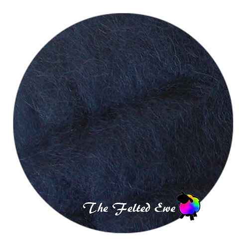 DR16 Night Shade Carded Wool Batt - Navy Blue, Dark Blue in Color