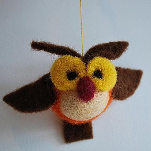 Wise Bird Needle Felting Kit
