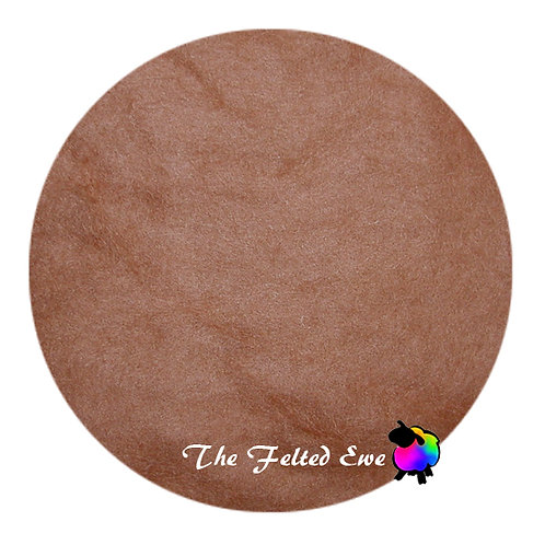 DR43 Golden Sienna Carded Wool Batt