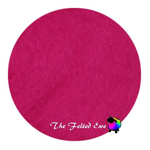CB12 Fuchsia Flamingos Carded Wool Batt