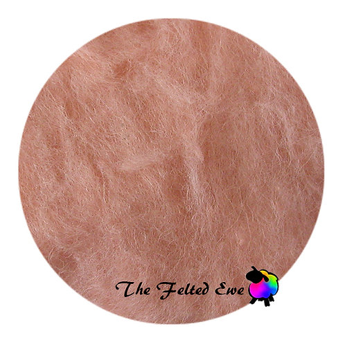 DR10 Summer Peach Carded Wool Batt