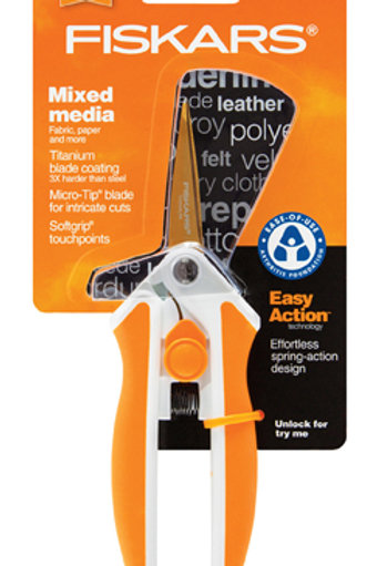 "Fiskars Easy Action 5"" Micro-Tip Titanium Scissors"