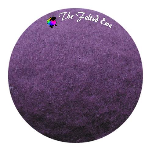 FB52 Deep Purple Maori Wool Batt