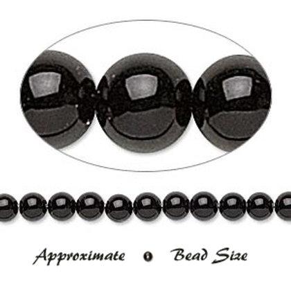 2mm Black Onyx Beads