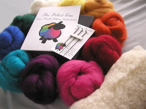 Custom 10 Color Needle Felting Wool Ki