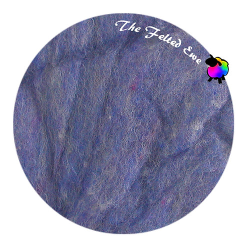 HFB47 Periwinkle Heathered Wool Fluffy Batt