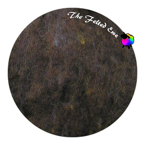 HFB25 Peppercorn Heathered Wool Fluffy Batt
