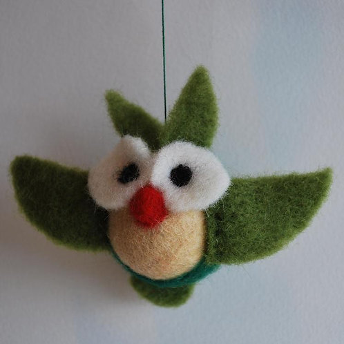 Christmas Bird Needle Felting Kit