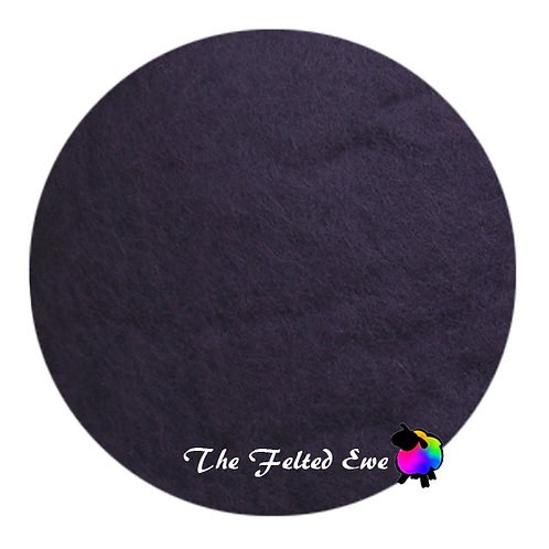 CB17 Aubergine Noir Wool Batt