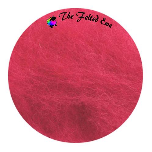 FB14 Rosy Lipstick Maori Wool Batt
