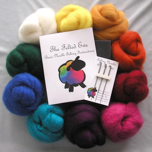 Custom 10 Wool Color Needle Felting Kit