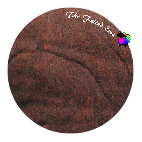 HFB24 Redwood Heathered Wool Fluffy Batt