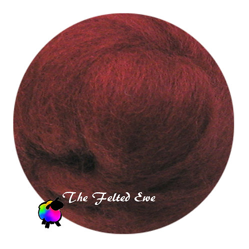 DR7 Rustic Red Wool Roving