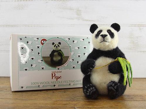 Pepe the Panda Needle Felting Kit