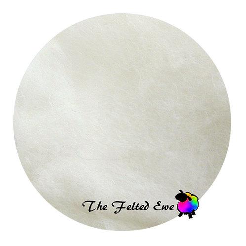 CB1 Polar Bear Carded Wool Batt