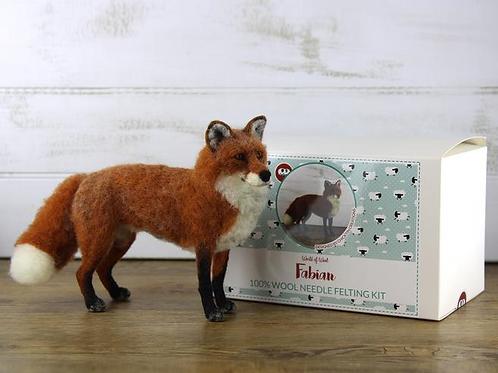 Fabian the Fox Needle Felting Kit