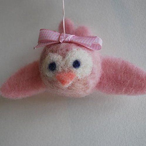 Pink Baby Bird Needle Felting Kit