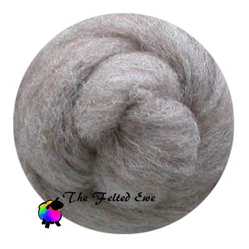 NR1 Oatmeal Spice Carded Wool Roving