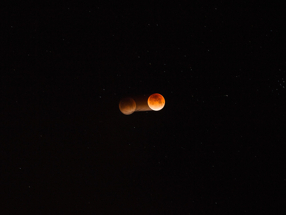 Blood Moon in Vancouver, British Columbia